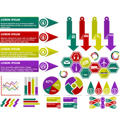 infographic business set vector image