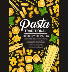 Italian pasta cooking poster cover vector
