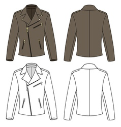 jacket for man vector image vector image
