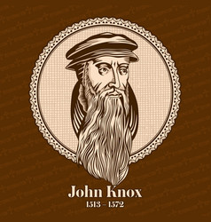 John knox was a scottish minister theologian vector