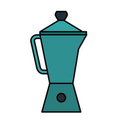 kitchen kettle isolated icon vector image