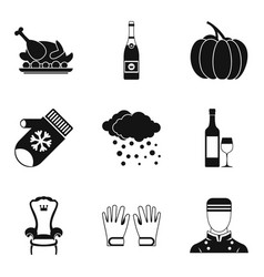 Largesse icons set simple style vector