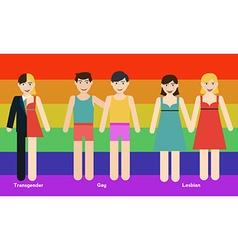 LGBT person vector