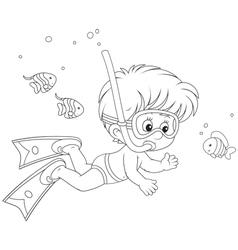 Little diver vector