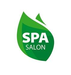 Logo green leaf for Spa Salon vector