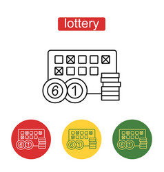 lottery line icon editable stroke vector image