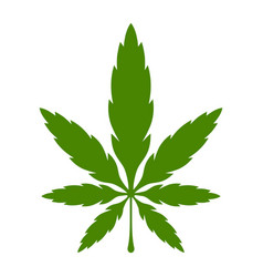 Marijuana pot weed leaf vector