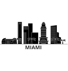 Miami architecture city skyline travel vector