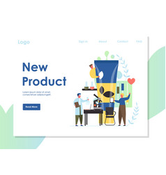 New product website landing page design vector