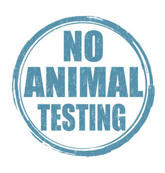 No animal testing sign or stamp vector