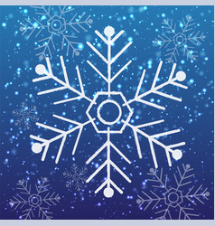 pattern snow vector image