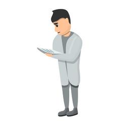 pediatrician patient clipboard icon cartoon style vector image