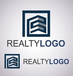 Realty logo 5 4 vector