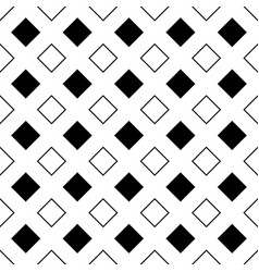 Repeating abstract black and white square pattern vector