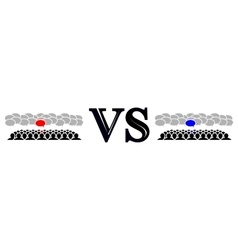 rivalry of the two teams vector image
