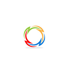 Round circle colorful logo vector