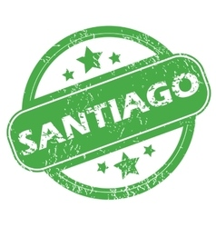 Santiago green stamp vector