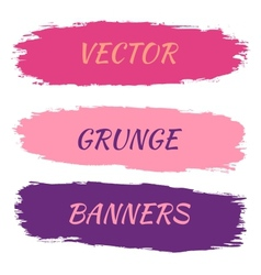 set grunge banners vector image