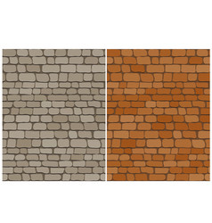 set of old brick wall seamless pattern vector image