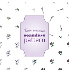 Set seamless patterns with provence flowers vector