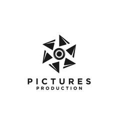 Shutter photography logo design vector
