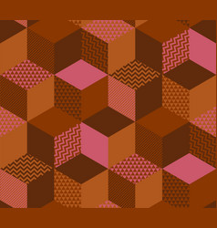 Sophisticated geometric shapes seamless pattern vector