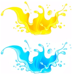 Splash Juice Drink and water splash vector image