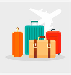 travel bag concept background flat style vector image