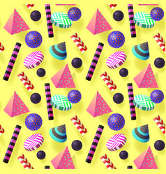 Trendy abstract memphis seamless pattern vector