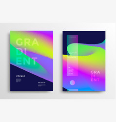 trendy covers with gradient shapes vector image