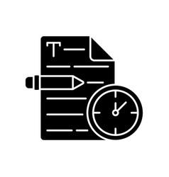 Urgent copywriting black glyph icon vector