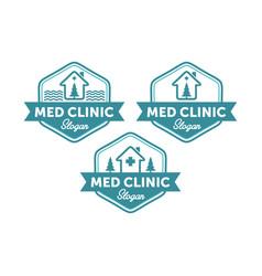 vintage medical logo designs vector image