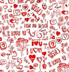 Watercolor Valentines day pattern vector