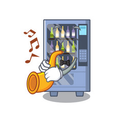 with trumpet wine vending machine isolated with vector image
