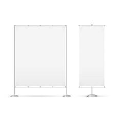 blank banner billet press wall set vector image vector image