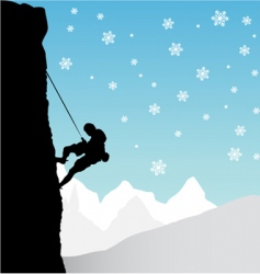 climber mountaineer vector image