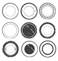 grunge rubber set color design vector image vector image