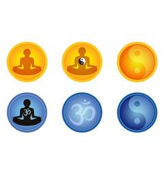meditation signs vector image vector image