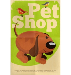 pet shop poster dog vector image