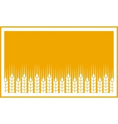 yellow label with wheat ears vector image