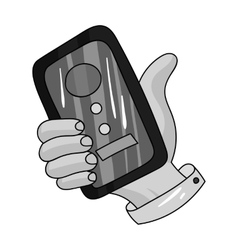 Call conference icon in monochrome style isolated vector