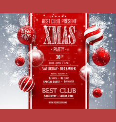 Christmas party design vector