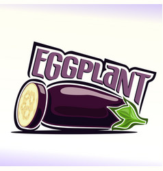 eggplant still life vector image