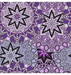 Lilac seamless design in oriental style Stellar vector image vector image