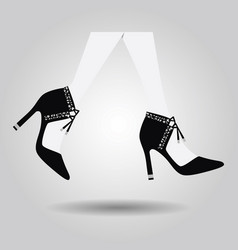 abstract close up walking spanish high heel shoes vector image vector image
