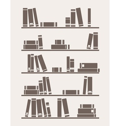 Books on the shelf school or library vector image vector image