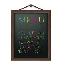 Cafe menu board vector image vector image