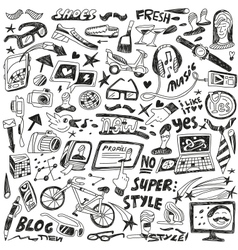 hipsters - doodles vector image