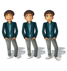 Man with different emotions vector