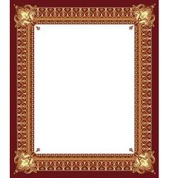 Border gold vector image